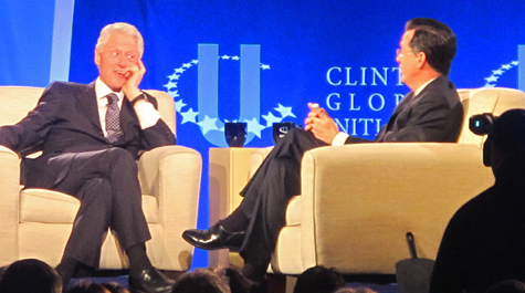 Clinton and Colbert